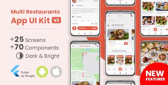 Food Delivery Flutter App UI Kit - CodeCanyon Item for Sale