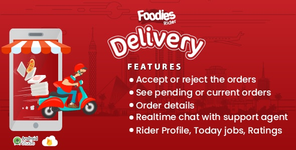Foodies - Android Delivery Boy Mobile App v1.0 - CodeCanyon Item for Sale