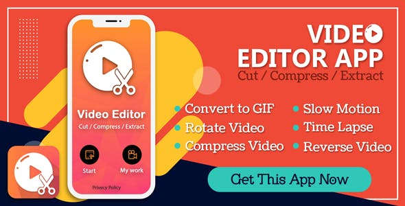 Video editor (64 bit supported), Cut, Compress, Extract, video to audio