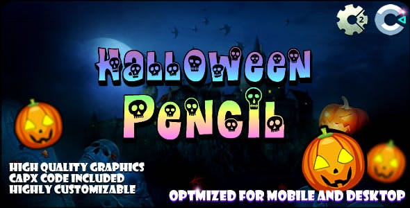 Halloween Pencil (C2,C3,HTML5) Game.