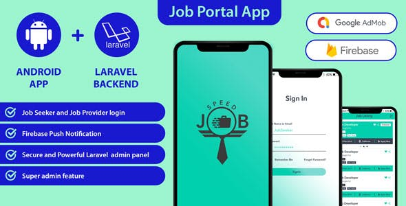 Speed Job android application with Laravel admin panel (Like Naukri, Shine, Indeed)