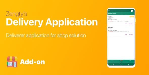 Goods Ordering - Deliverer Android Application