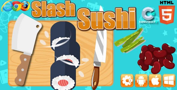 Slash Sushi - HTML5 Game (capx)