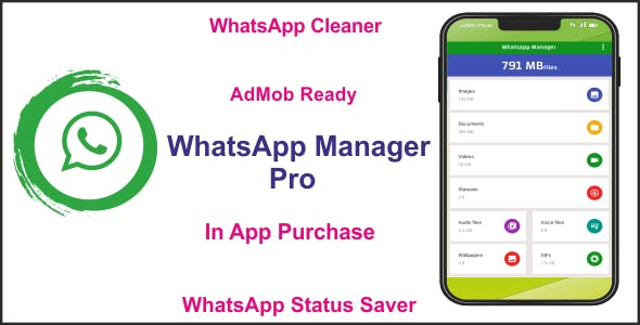 Whatsapp Manager - Whatsapp Cleaner & Whatsapp Status Saver - Two in One App with AdMob