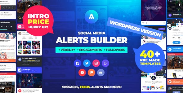 Asgard - Social Media Alerts & Feeds WordPress Builder - Facebook, Instagram, Twitch and more!