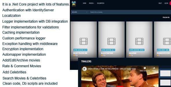 MovieDb .Net Core Application