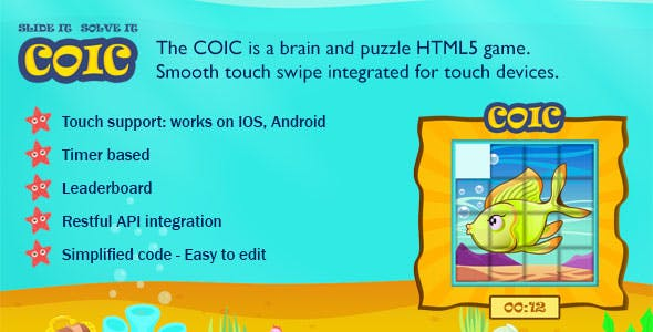 Coic Swipe Tile HTML5 Game