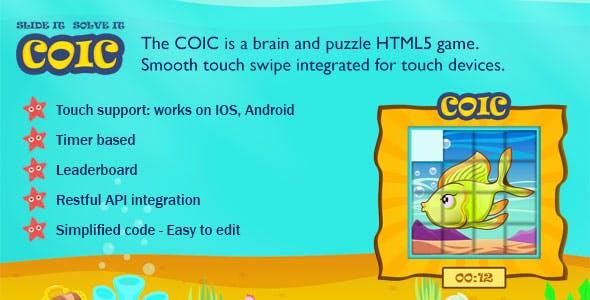 Coic Swipe Tile HTML5 Game