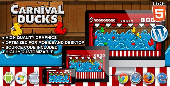Carnival Ducks - HTML5 Shooting Game