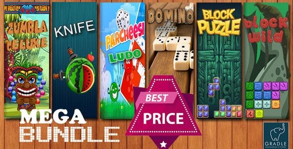 Bundle 6 GAMES - Gradle (Admob + GDPR + Android Studio)