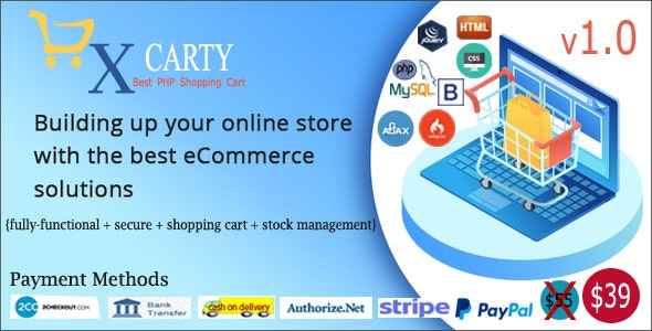 xCarty - E-commerce System with Stock Management - CodeCanyon Item for Sale