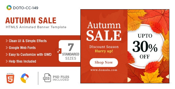 Autumn Sale HTML5-Banners - 7 Sizes - CodeCanyon Item for Sale