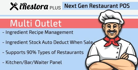 iRestora PLUS Multi Outlet - Next Gen Restaurant POS - CodeCanyon Item for Sale