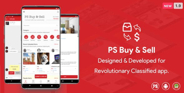 PS BuySell ( Olx, Mercari, Offerup, Carousell, Buy Sell ) Clone  Classified App (1.9)
