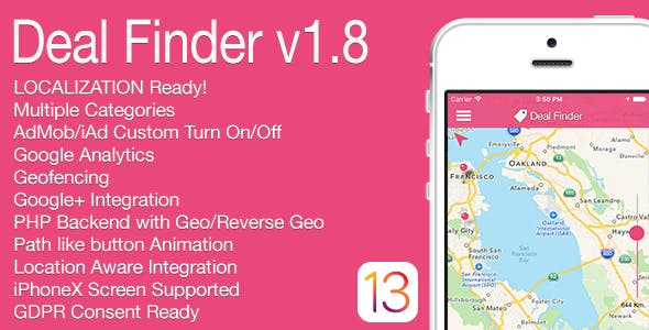Deal Finder Full iOS Application v1.8