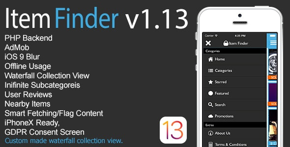 Item Finder MarketPlace Full iOS App v1.13 - CodeCanyon Item for Sale