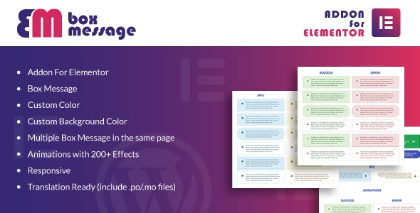 Box Message for Elementor WordPress Plugin - CodeCanyon Item for Sale