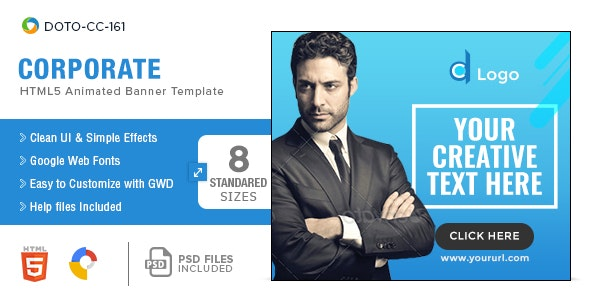 Corporate HTML5 Banners - 8 Sizes - CodeCanyon Item for Sale