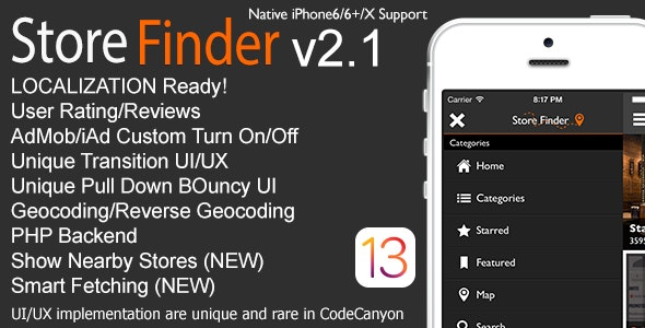 Store Finder Full iOS Application v2.1 - CodeCanyon Item for Sale