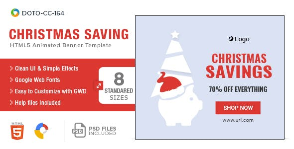 Christmas Savings HTML5 Banners - 8 Sizes