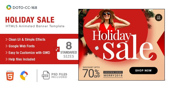 Holiday Sale HTML5 Banners - 8 Sizes