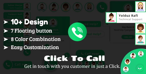 Click To Call - Direct Call From Website HTML Plugin - CodeCanyon Item for Sale
