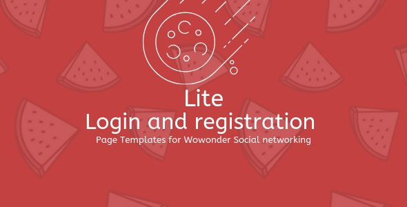 Lite PHP Login & Register Page Template for WoWonder - CodeCanyon Item for Sale
