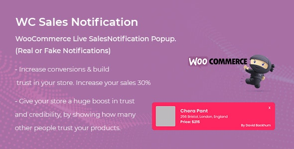 WooCommerce Live Sales Notification Pro - CodeCanyon Item for Sale