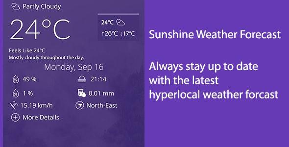 Sunshine Weather Forecast - CodeCanyon Item for Sale