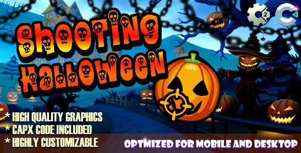 Shooting Halloween (C2,C3,HTML5) Game.