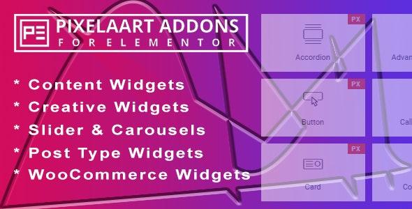 Pixelaart Addons for Elementor WordPress Plugin - CodeCanyon Item for Sale