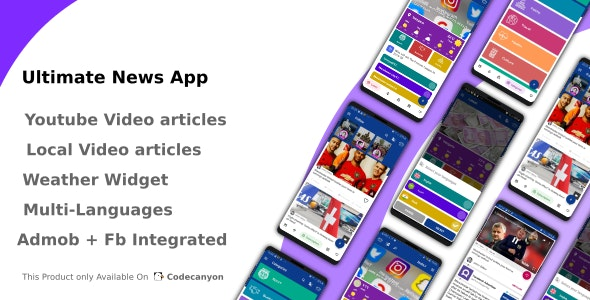Ultimate News App (Video,Youtube,Weather,Survey) - CodeCanyon Item for Sale