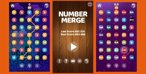 Number Merge | HTML5 Game (capx)
