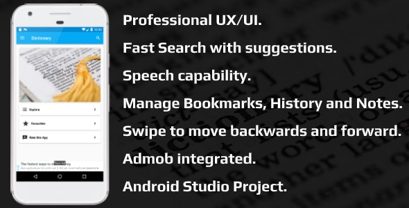 Pro Dictionary (Android) - CodeCanyon Item for Sale