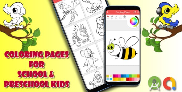 Kids Coloring or Painting Book Source Code