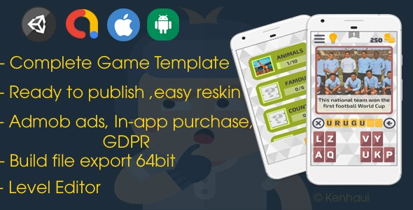 Picture Quiz - Unity Game Template + Editor - CodeCanyon Item for Sale