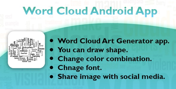 Word Cloud Andrid App - CodeCanyon Item for Sale