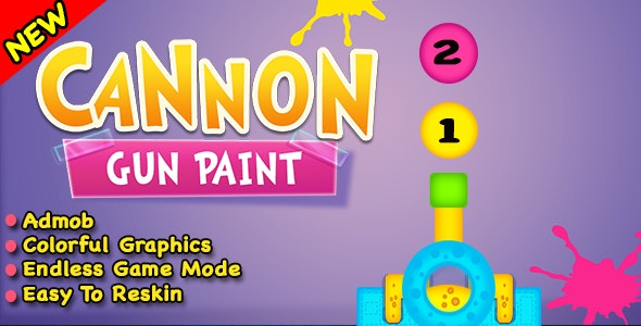Cannon Gun Paint + Best New Game In Android Studio - CodeCanyon Item for Sale