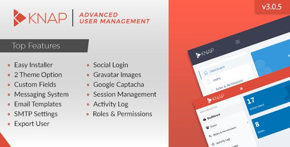 Knap - Advanced PHP Login and User Management