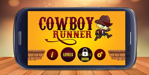 CowBoy Runner - Buildbox Game Template