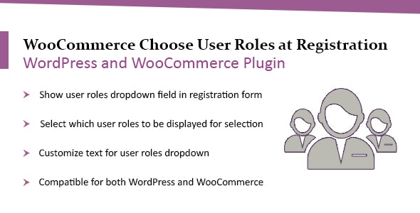 WooCommerce WordPress Choose User Roles at Registration Plugin - CodeCanyon Item for Sale