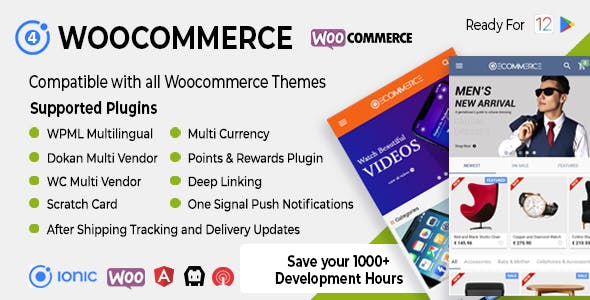 Ionic Woocommerce - Universal iOS & Android Ecommerce / Store Full Mobile App