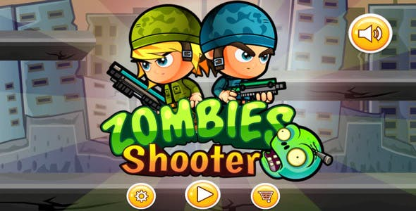 Zombie Shooter - Buildbox Game Template
