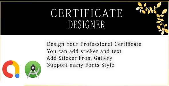 Certificate Designer And Creator - CodeCanyon Item for Sale