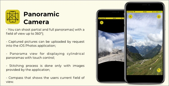 Panoramic Camera - iOS Application - CodeCanyon Item for Sale