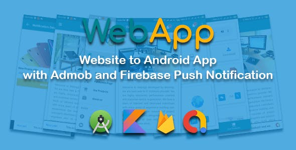 WEBAPP - Website to app with Admob and Push Notification Panel