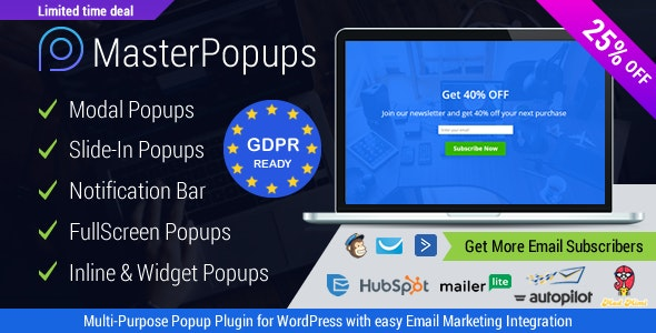 Wordpress Popup Plugin by Codexhelp