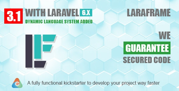 Laraframe - Laravel Kickstarter 3.1 - CodeCanyon Item for Sale