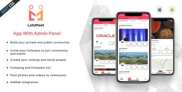 LetsMeet - iOS Community & Meetup App + Admin panel - CodeCanyon Item for Sale