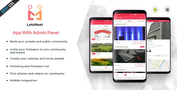 LetsMeet - Android Community & Meetup App + Admin panel - CodeCanyon Item for Sale